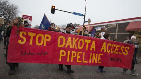 Dakota_Access_Pipeline_protesters_against_Donald_Trump (c) 2017, Fibonacci Blue