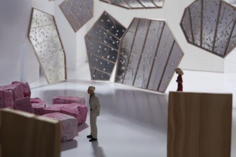 Maquette de l'exposition Sophie Whettnall Etel Adnan - CENTRALE - Lydie Nesvadba